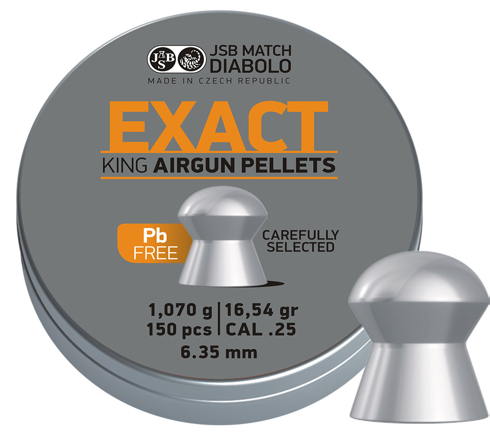 JSB Exact King Lead Free .25 (6.35mm)