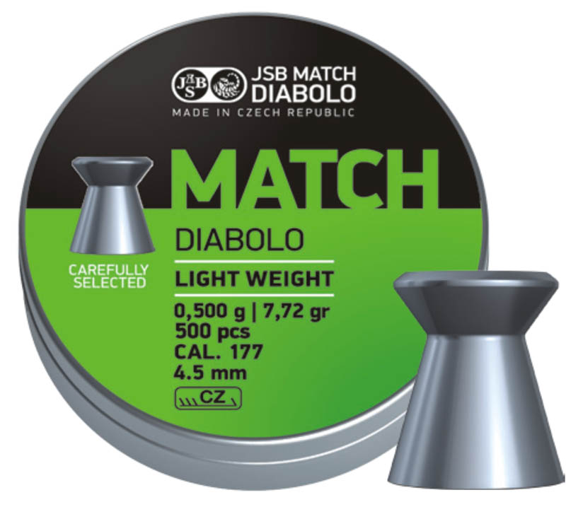JSB Green Match Diabolo Light Weight .177 (4.52mm)