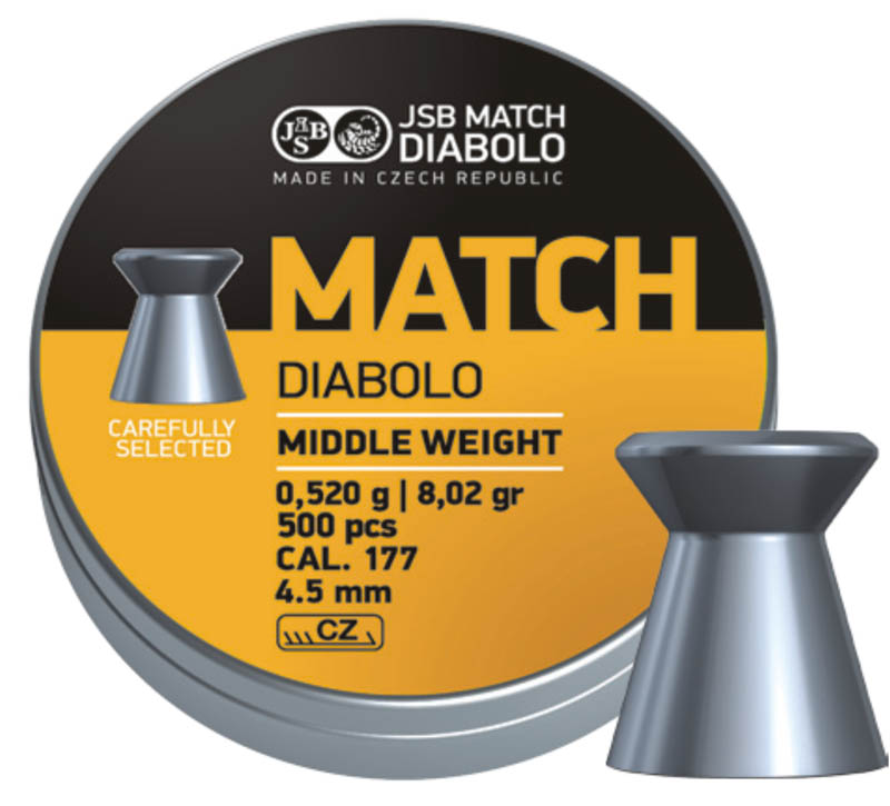 JSB Yellow Match Diabolo Middle Weight .177 (4.51mm)