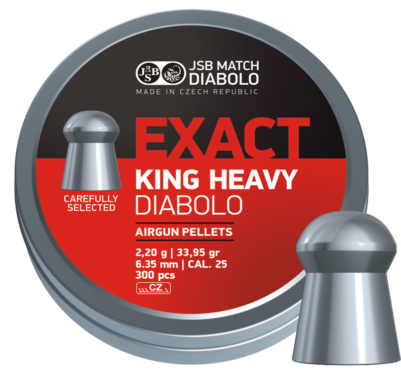JSB Diabolo Exact King Heavy .25 (6.35mm)