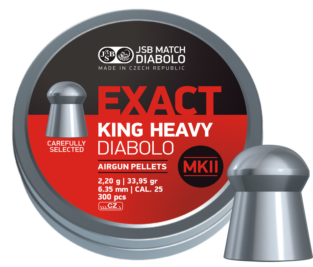JSB Diabolo Exact King Heavy MKII .25 (6.35mm)