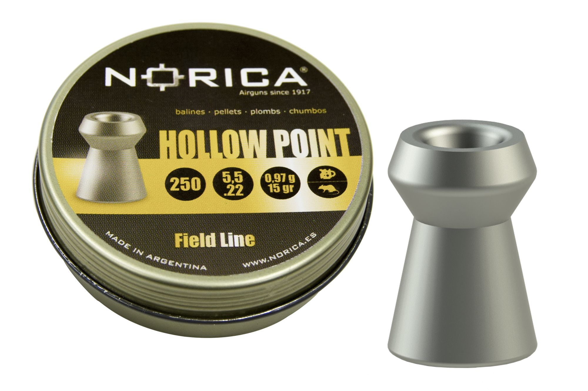 Norica Hollow Point (Tin) .22 (5.5mm)