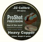 Proshot Precision Heavy Copper .22 (5.5mm)