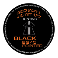 SMK BS45 Black (Pointed) .177 (4.5mm)