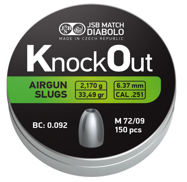 JSB Knockout Slugs .25 (6.37mm)